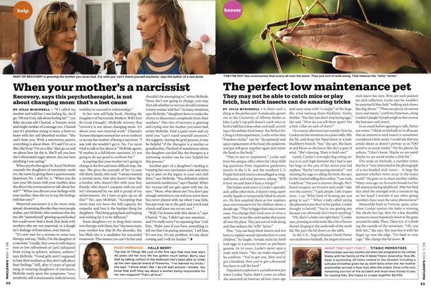 Article Preview: The perfect low maintenance pet, NOV. 3rd 2008 2008 | Maclean's