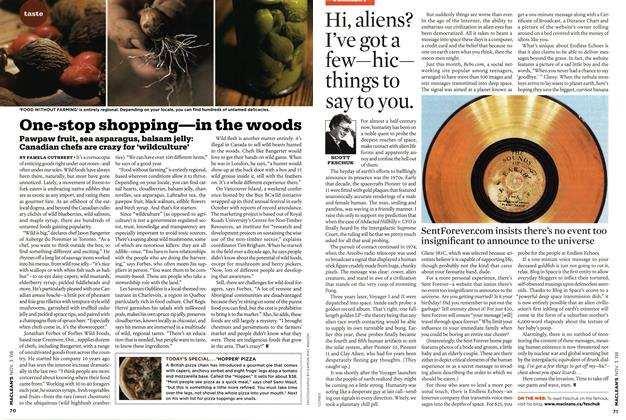 Article Preview: Hi, aliens? I've got a few—hic— things to say to you., NOV. 3rd 2008 2008 | Maclean's