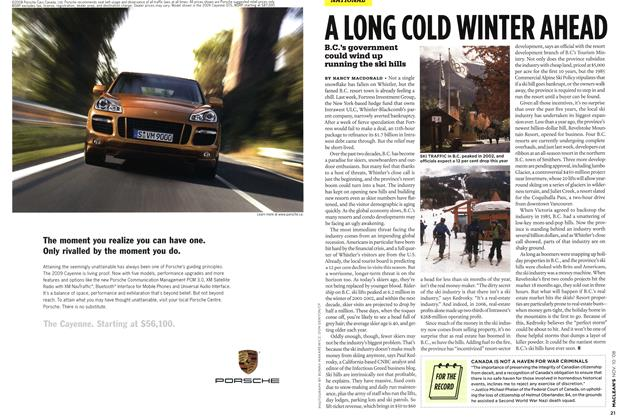 Article Preview: A LONG COLD WINTER AHEAD, NOV. 10th 2008 2008 | Maclean's