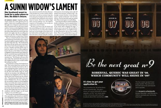 Article Preview: A SUNNI WIDOW'S LAMENT, NOV. 10th 2008 2008 | Maclean's