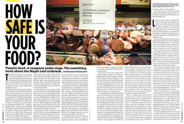 Article Preview: HOW SAFE IS YOUR FOOD?, NOV. 10th 2008 2008 | Maclean's