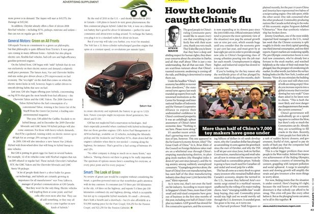 Article Preview: How the loonie caught China's flu, NOV. 10th 2008 2008 | Maclean's