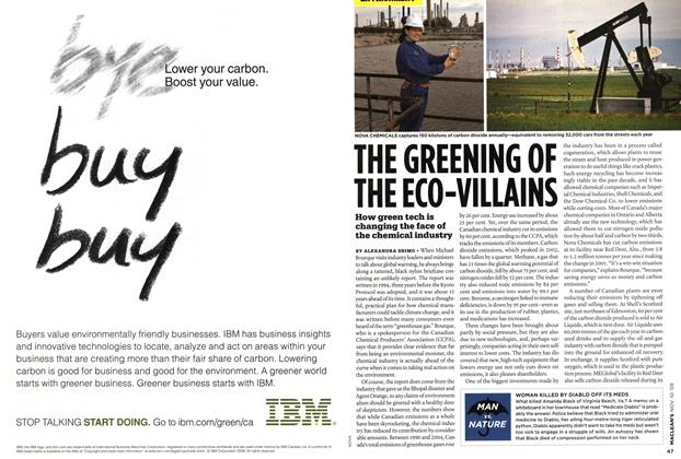 Article Preview: THE GREENING OF THE ECO-VILLAINS, NOV. 10th 2008 2008 | Maclean's