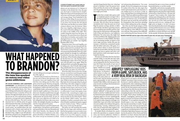 Article Preview: WHAT HAPPENED TO BRANDON?, NOV. 10th 2008 2008 | Maclean's