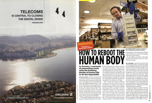 Article Preview: HOW TO REBOOT THE HUMAN BODY, NOV. 10th 2008 2008 | Maclean's