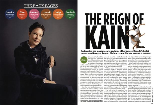 Article Preview: THE REIGN OF KAIN, NOV. 10th 2008 2008 | Maclean's