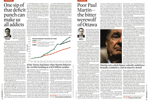 Article Preview: Poor Paul Martin— the bitter werewolf of Ottawa, NOV. 10th 2008 2008 | Maclean's