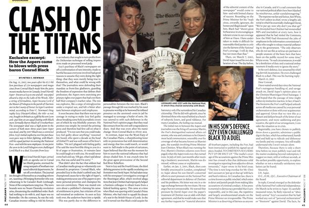 Article Preview: CLASH OF THE TITANS, NOV. 17th 2008 2008 | Maclean's