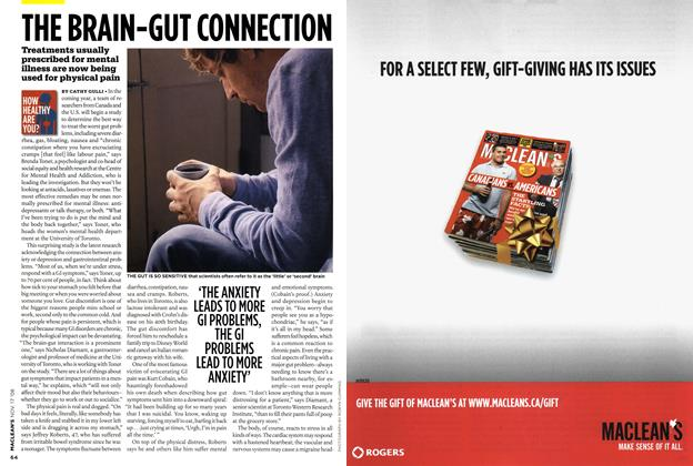 Article Preview: THE BRAIN-GUT CONNECTION, NOV. 17th 2008 2008 | Maclean's