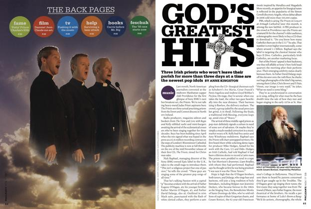 Article Preview: GOD'S GREATEST HIS, NOV. 17th 2008 2008 | Maclean's