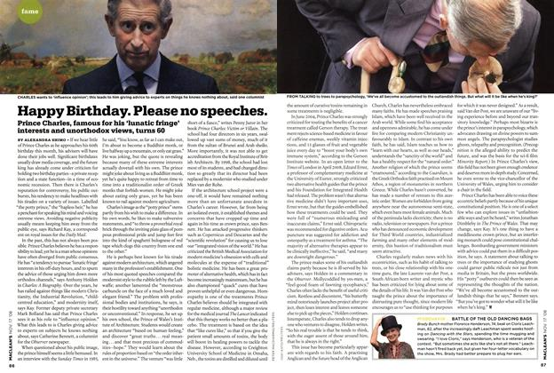 Article Preview: Happy Birthday. Please no speeches., NOV. 17th 2008 2008 | Maclean's