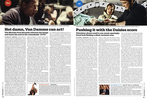 Article Preview: Pushing it with the Daisies score, NOV. 17th 2008 2008 | Maclean's