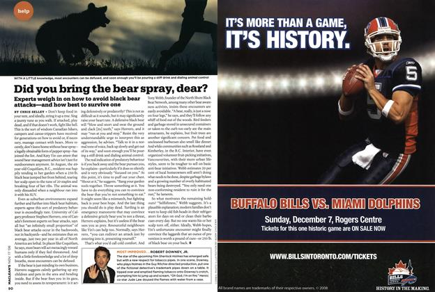 Article Preview: Did you bring the bear spray, dear?, NOV. 17th 2008 2008 | Maclean's