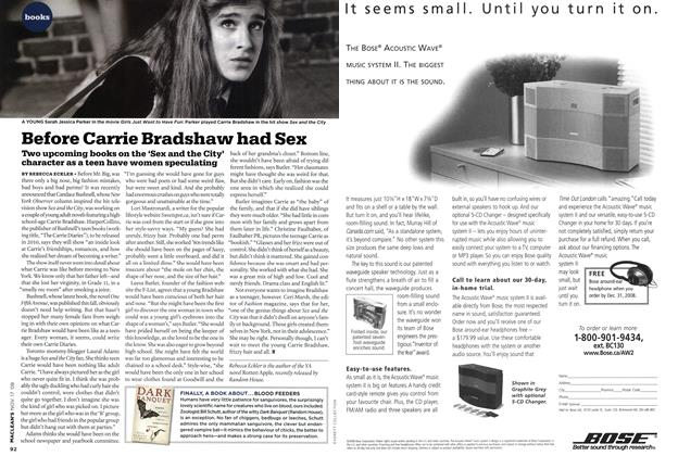 Article Preview: Before Carrie Bradshaw had Sex, NOV. 17th 2008 2008 | Maclean's