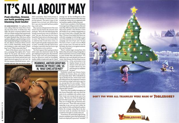 Article Preview: IT'S ALL ABOUT MAY, NOV. 24th 2008 2008 | Maclean's