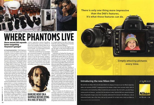 Article Preview: WHERE PHANTOMS LIVE, NOV. 24th 2008 2008 | Maclean's