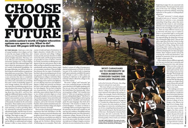 Article Preview: CHOOSE YOUR FUTURE, NOV. 24th 2008 2008 | Maclean's