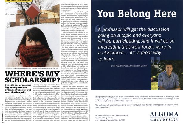 Article Preview: WHERE'S MY SCHOLARSHIP?, NOV. 24th 2008 2008 | Maclean's
