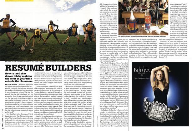 Article Preview: RESUMÉ BUILDERS, NOV. 24th 2008 2008   Maclean's