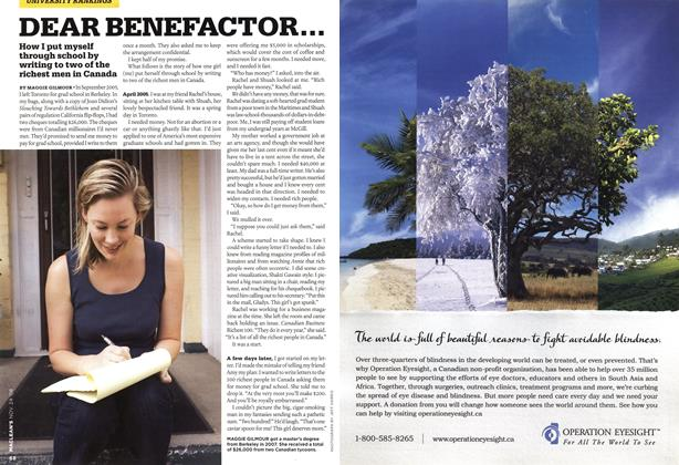 Article Preview: DEAR BENEFACTOR..., NOV. 24th 2008 2008 | Maclean's