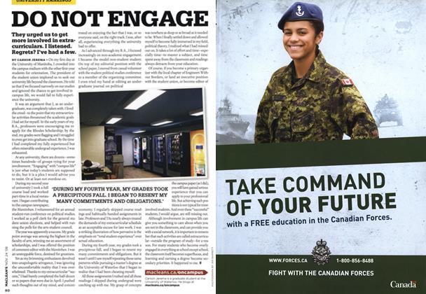 Article Preview: DO NOT ENGAGE, NOV. 24th 2008 2008 | Maclean's