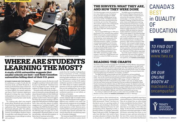Article Preview: WHERE ARE STUDENTS LEARNING THE MOST?, NOV. 24th 2008 2008 | Maclean's
