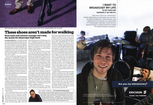 Article Preview: These shoes aren't made for walking, NOV. 24th 2008 2008 | Maclean's