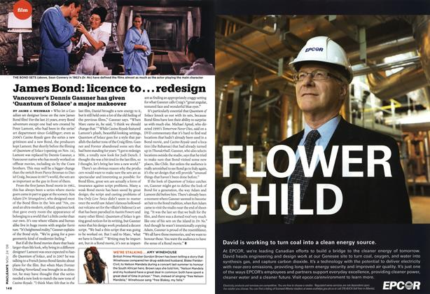 Article Preview: James Bond: licence to... redesign, NOV. 24th 2008 2008 | Maclean's