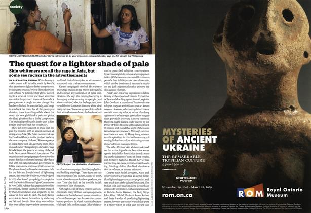 Article Preview: The quest for a lighter shade of pale, NOV. 24th 2008 2008 | Maclean's