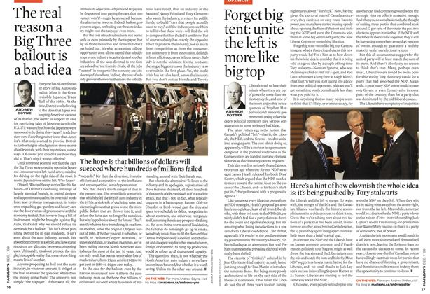 Article Preview: Forget big tent: unite the left is more like big top, DEC. 1st 2008 2008 | Maclean's
