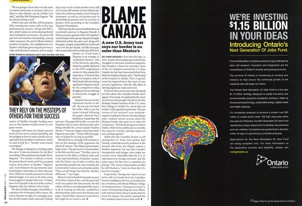 Article Preview: BLAME CANADA, DEC. 1st 2008 2008 | Maclean's