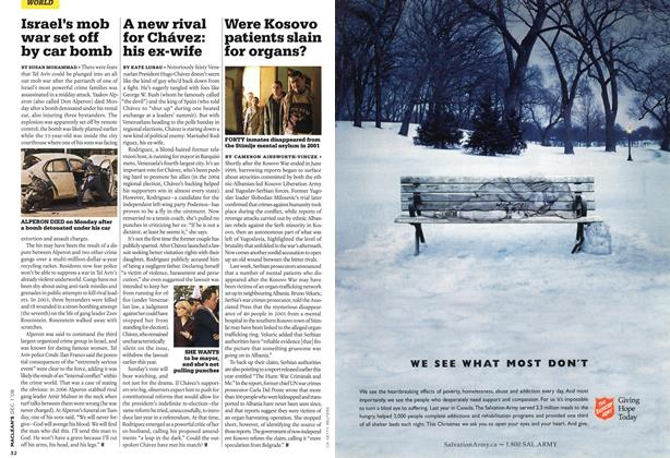 Article Preview: Were Kosovo patients slain for organs?, DEC. 1st 2008 2008 | Maclean's