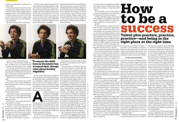 Article Preview: How to be a success, DEC. 1st 2008 2008 | Maclean's