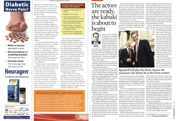 Article Preview: The actors are ready, the kabuki is about to begin, DEC. 1st 2008 2008 | Maclean's