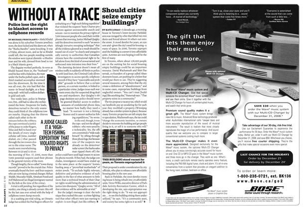 Article Preview: WITHOUT A TRACE, DEC. 8th 2008 2008 | Maclean's