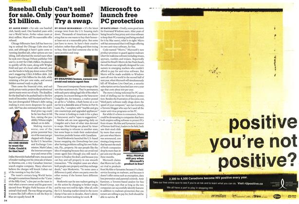 Article Preview: Microsoft to launch free PC protection, DEC. 8th 2008 2008 | Maclean's