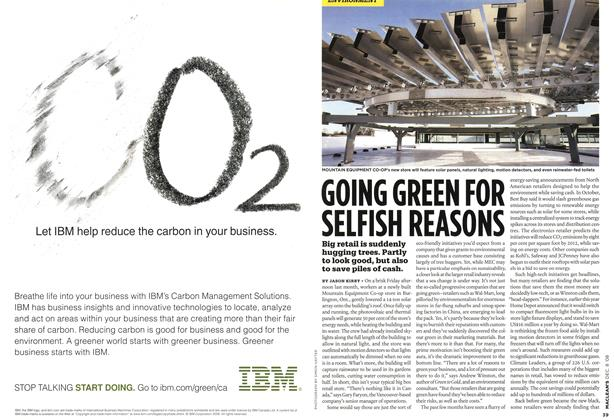 Article Preview: GOING GREEN FOR SELFISH REASONS, DEC. 8th 2008 2008 | Maclean's