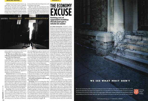 Article Preview: THE ECONOMY EXCUSE, DEC. 8th 2008 2008 | Maclean's