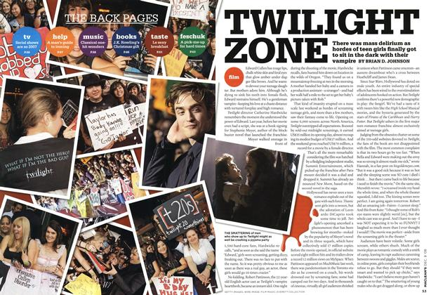 Article Preview: TWILIGHT ZONE, DEC. 8th 2008 2008 | Maclean's