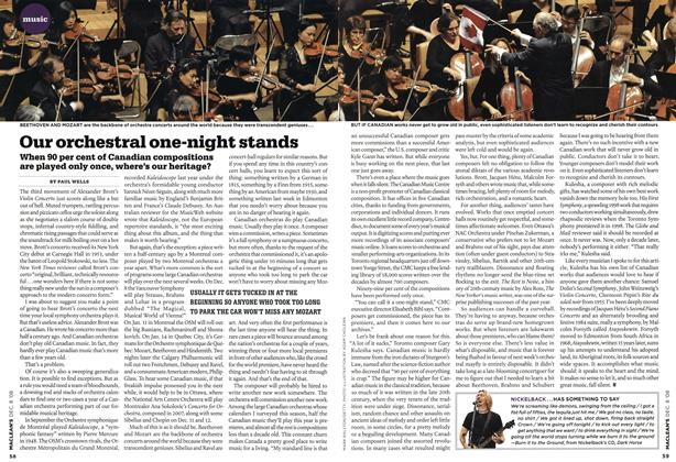Article Preview: Our orchestral one-night stands, DEC. 8th 2008 2008 | Maclean's