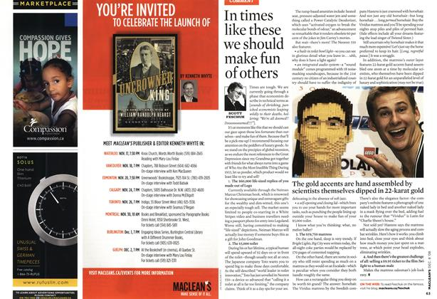 Article Preview: In times like these we should make fun of others, DEC. 8th 2008 2008 | Maclean's