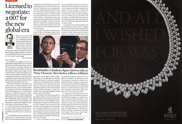 Article Preview: Licensed to negotiate: a 007 for the new global era, DEC. 15th 2008 2008 | Maclean's