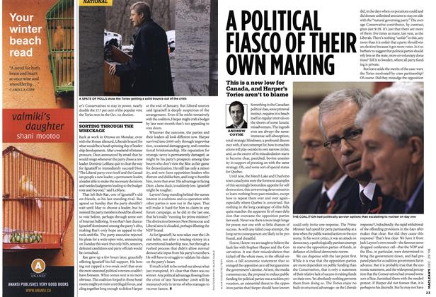 Article Preview: A POLITICAL FIASCO OF THEIR OWN MAKING, DEC. 29th 2008 2008 | Maclean's