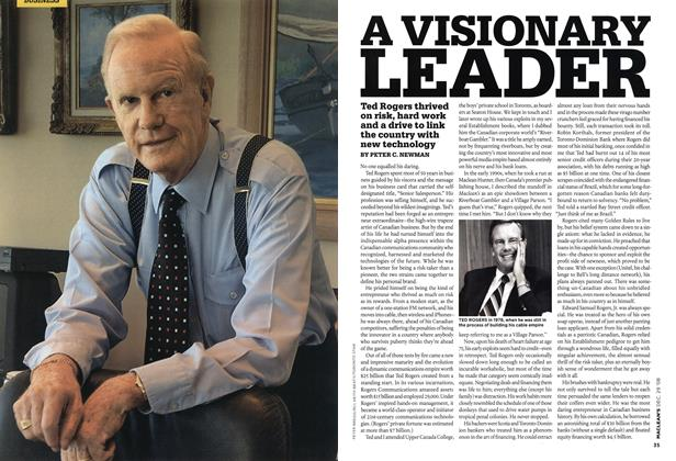 Article Preview: A VISIONARY LEADER, DEC. 29th 2008 2008 | Maclean's
