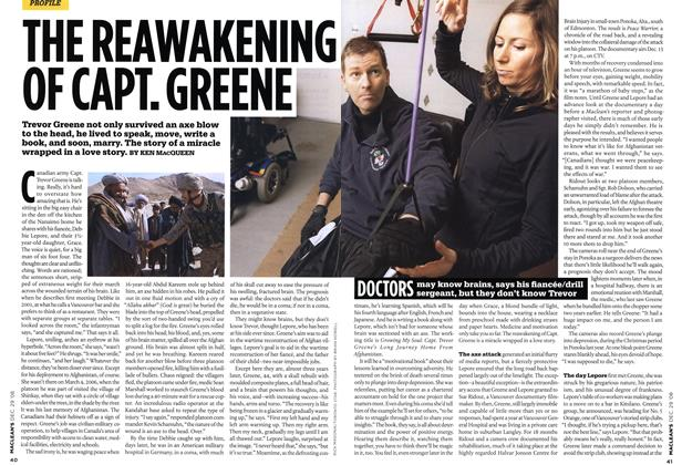 Article Preview: THE REAWAKENING OF CAPT. GREENE, DEC. 29th 2008 2008 | Maclean's