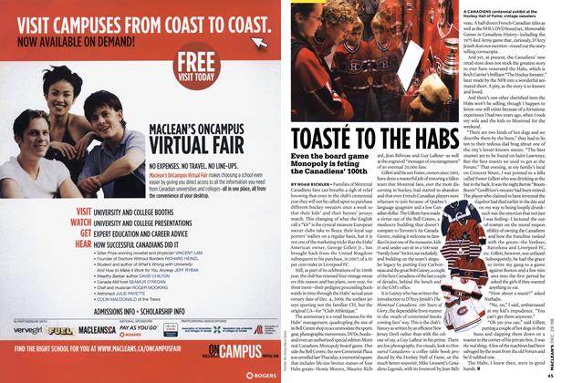 Article Preview: TOASTE TO THE HABS, DEC. 29th 2008 2008 | Maclean's