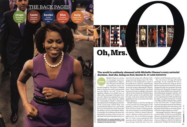 Article Preview: Oh, Mrs.O, DEC. 29th 2008 2008 | Maclean's