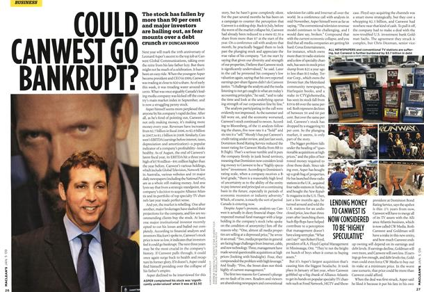 Article Preview: COULD CANWEST GO BANKRUPT?, January 2009 | Maclean's