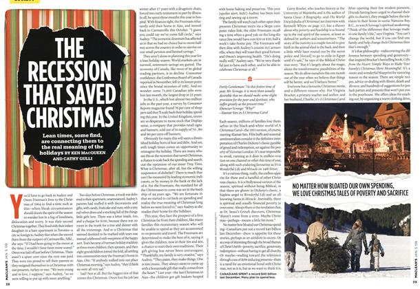 Article Preview: THE RECESSION THAT SAVED CHRISTMAS, January 2009 | Maclean's