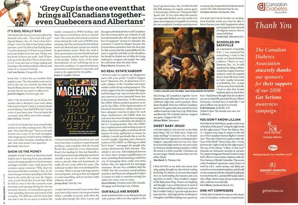 Article Preview: 'Grey Cup is the one event that brings all Canadians togethereven Quebecers and Albertans', January 2009 | Maclean's